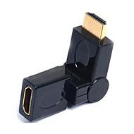 levne -lwm® Port HDMI spořič adaptér z muže na ženu spojce 360 stupňů otočný