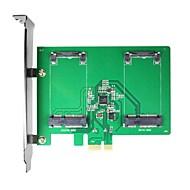 お買い得  -PCI-Eカードにmaiwo kcssd2 2×1.8インチmsataのPCI-EのSSD msata