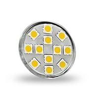 お買い得  LED スポットライト-1.5W 130-150 lm GU4(MR11) LEDスポットライト MR11 12 LEDの SMD 5050 装飾用 温白色 DC 12V