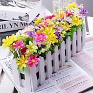 şube Polyester Plastik Papatyalar Masaüstü Çiçeği Yapay Çiçekler