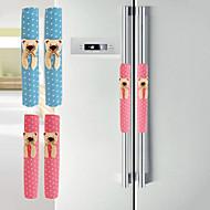 abordables Gadgets para Casa y Despacho-patrón de oso de tela de algodón armario& pomo de la puerta del refrigerador cubre par de guantes k3586