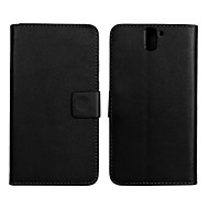 Solid Color PU Leather Full Body Case with Stand and Card Slot for One Plus One (Assorted Colors)