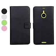 voordelige Telefoon hoesjes-effen kleur pu leer full body case met standaard en kaartsleuf voor Nokia Lumia 1520 (verschillende kleuren)