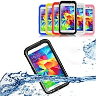 Недорогие Чехлы и кейсы для Galaxy S-Кейс для Назначение SSamsung Galaxy Кейс для  Samsung Galaxy Водонепроницаемый / Прозрачный Чехол Однотонный ПК для S5 / S4 / S3