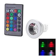 marsing gu10 fjärrkontroll 16 färger 4 lägen rgb 3w 200lm led lampa (90-260v)