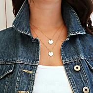 billige -Halskædevedhæng Europæisk minimalistisk stil Mode Sølv Gylden Halskæder Smykker Til Daglig Afslappet