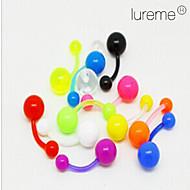 lureme®colorful perforación de acrílico ombligo / oído (color al azar)