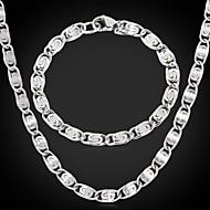 abordables U7-Acero inoxidable Conjunto de joyas Collare / Pulsera - Juego de Joyas Para Boda / Fiesta / Cumpleaños