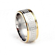 Men's Band Ring - Titanium Steel Fashion 7 / 8 / 9 Gold / Silver For Party / Daily / Casual