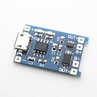 お買い得  -5V 1Aのリチウム電池の充電ボード - 黒+ブルー