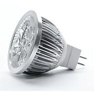 4W GU5.3(MR16) LED-spotlys MR16 5 leds Højeffekts-LED Varm hvid 350-450lm 3000-3500K Jævnstrøm 12V