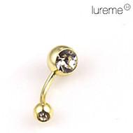 lureme®gold inoxidable chapado ombligo acero / perforación del oído