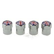 billiga -modifierad bildäck nationell flagg kopparventiler dekorationslockventil keps sfärisk ventillock 4 stycken per förpackning (uk)