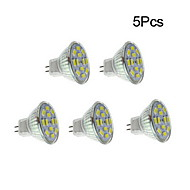 4W GU4(MR11) LED Spotlight 12 leds SMD 5730 Warm White Natural White 450lm 3500/6000K DC 12V