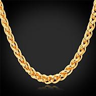 お買い得  U7-女性用 ゴールドメッキ チョーカー チェーンネックレス  -  ファッション ゴールデン ネックレス 用途 結婚式 パーティー 日常