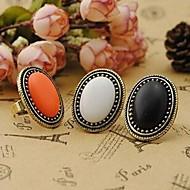 Недорогие $0.99 Модное ювелирное украшение-Жен. Заявление - Сплав Винтаж, Мода, Элегантный стиль Стандартный размер Белый / Черный / Оранжевый Назначение Для вечеринок / Повседневные