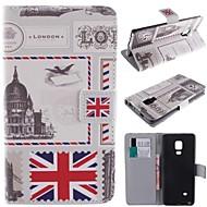 Для Кейс для  Samsung Galaxy Кошелек / Бумажник для карт / со стендом / Флип / С узором Кейс для Чехол Кейс для Панорама города