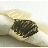 Pierścień metalowy pierścień serwetka, żelazko, 1.77inch, zestaw 12