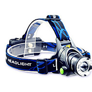 cheap Flashlights, Lanterns & Lights-TD286 Headlamps Headlight LED 800 lm Mode Cree T6 with Batteries and Charger Zoomable Adjustable Focus Rechargeable Waterproof