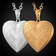 Mujer Collares con colgantes Medallones Collares Cobre Chapado en Oro Moda Dorado Joyas Diario Casual 1 pieza