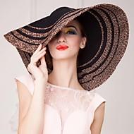 お買い得  -わら クリスタル ファブリック - ティアラ 帽子 1 結婚式 パーティー/フォーマル カジュアル アウトドア かぶと