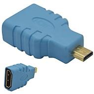 저렴한 -마이크로 HDMI 남성 어댑터 블루에 HDMI 여성