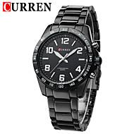 저렴한 -CURREN 남성용 손목 시계 드레스 시계 패션 시계 석영 일본 쿼츠 달력 방수 스테인레스 스틸 밴드 캐쥬얼 블랙 실버