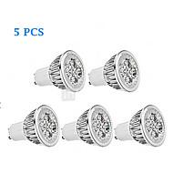 お買い得  LED スポットライト-5個 300lm GU10 LEDスポットライト MR16 4 LEDビーズ ハイパワーLED 調光可能 温白色 / クールホワイト 85-265V / 220-240V