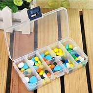 preiswerte Alles fürs Reisen-Travel Reisemedikamentenbox rechteckig Reiseaccessoires für den Notfall Plastik