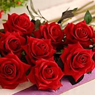 şube İpek Plastik Güller Masaüstü Çiçeği Yapay Çiçekler