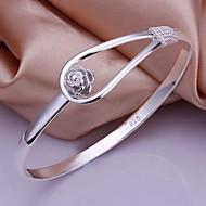 ieftine Bijuterii&Ceasuri-Pentru femei Plastic Brățări Bangle - Argintiu Brățări Pentru Nuntă Petrecere Zilnic Casual