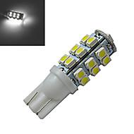 olcso Más LED fények-100lm lm T10 Dekoratív 25 led SMD 3528 Hideg fehér DC 12V