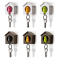 cheap Kids At Home-Bird Nest Key Ring Storage Rack Wall Hook Whistle Key Organizer Sparrow House Key Holder