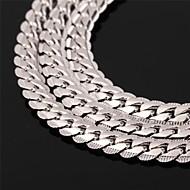 halpa -Miesten Naisten Circle Shape Muoto Muoti Choker-kaulakorut Kaulaketjut Vintage kaulakoru Ruusukulta Platinum Plated Gold Plated