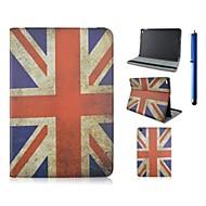 voordelige iPad-hoesjes/covers-hoesje Voor iPad Air 2 met standaard Patroon Volledig hoesje Vlag PU-nahka voor iPad Air 2