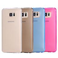 Недорогие Чехлы и кейсы для Galaxy S-Кейс для Назначение SSamsung Galaxy Кейс для  Samsung Galaxy Прозрачный Кейс на заднюю панель Однотонный ТПУ для S6