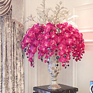 """38 """"uzun kumaş kelebek ochird 3 mor renk dekoratif yapay çiçek seti"""