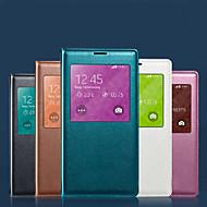 Недорогие Чехлы и кейсы для Galaxy S7-Для Кейс для  Samsung Galaxy Чехлы панели Водонепроницаемый с окошком Чехол Кейс для Один цвет Мягкий Искусственная кожа для SamsungS8 S8