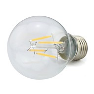 お買い得  LED ボール型電球-1個 4 W 360 lm E26 / E27 フィラメントタイプLED電球 4 LEDビーズ COB 装飾用 温白色 85-265 V / # / 1個 / RoHs