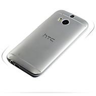 お買い得  携帯電話ケース-ケース 用途 HTC HTCケース 超薄型 / クリア バックカバー ソリッド ソフト TPU のために
