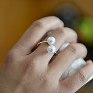 Dames Bandringen Verstelbaar Open Kostuum juwelen Parel Sieraden Voor Bruiloft Feest Dagelijks Causaal Sport