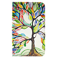 Недорогие Чехлы и кейсы для Galaxy Tab S 8.4-Кейс для Назначение Tab S 8.4 SSamsung Galaxy Бумажник для карт Кошелек со стендом Флип С узором Чехол дерево Твердый Кожа PU для