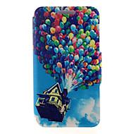 Χαμηλού Κόστους Galaxy A8 Θήκες / Καλύμματα-tok Για Samsung Galaxy Samsung Galaxy Θήκη Θήκη καρτών με βάση στήριξης Ανοιγόμενη Μαγνητική Με σχέδια Πλήρης Θήκη Μπαλόνια PU δέρμα για