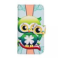 Для Кейс для  Samsung Galaxy Бумажник для карт / со стендом / Флип / С узором / Магнитный Кейс для Задняя крышка Кейс для Сова