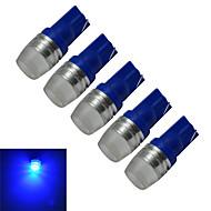 1.5W T10 Luz de Decoração 1 LED de Alta Potência 90lm lm Azul DC 12 V 5 pçs