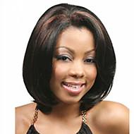 Vrouw Synthetische pruiken Kort Recht  Zwart Bobkapsel met middenlijn Afro-Amerikaanse pruik Bobkapsel Halloween Pruik Carnaval Pruik