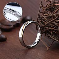 baratos -Jóias Personalizadas prata - Anéis - de Aço Inoxidável