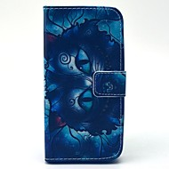 のために Samsung Galaxy ケース ウォレット / カードホルダー / スタンド付き / フリップ ケース フルボディー ケース 猫 PUレザー Samsung S5 Mini