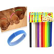 abordables Accesorios Mascota-Gatos Perros Cuello Etiquetas de Identificación Ajustable/Retractable Arco iris Multicolor Nilón