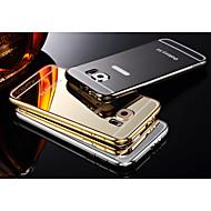 два в одном кх бренд металлическая рама акрил спинодержатель металл жесткий чехол для Samsung Galaxy S6